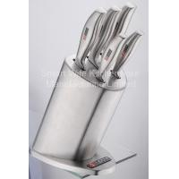 China good maket stainless steel kitchen knife set with stainless steel block on sale