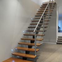 Best Open Riser Wood Staircase Fashionable Design Straight Staircase wholesale