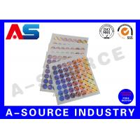 Cheap Plastic Custom Holographic Stickers Order Custom Stickers Steroid Label Box Packaging wholesale