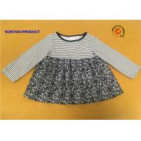 China Long Sleeve Little Girl Summer Dresses Round Neck 100% Polyester Sample Avaliable on sale