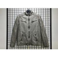 Best Winter Mens PU Jacket , Pu Leather Jacket With Garment Dyed Technical wholesale
