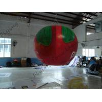 China B1 Fireproof PVC Apple Fruit Shaped Balloons With Full Digital Printing 3m Height on sale