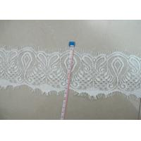 China White Eyelash Lace Trim For Garment Accessories with 13cm Width CY-HB3242 on sale
