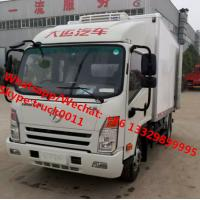 Best Factory wholesale good price Dayun brand 4*2 LHD 4tons refrigerator van truck for sale, Dayun reefer van truck wholesale