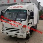 Best Factory wholesale good price Dayun brand 4*2 LHD 4tons refrigerator van truck for sale, Dayun reefer van truck wholesale