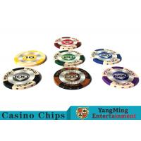 Best Customizable 14g  Clay Poker Chips With  Mette  Sticker wholesale
