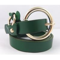 China real leather belts with round buckle for fashion ladies on sale