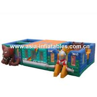 China Ultraman Bouncy Castles, Inflatable Fair Ground / Fun City For Toddler Playland on sale