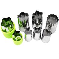 Best Vegetable Cutters Shapes Set (8 Piece) - Cookie Cutters Fruit Mold Cheese Presses Stamps for Kids Shaped Treats Food wholesale