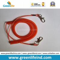 Best Transparent Red Vinyl Coated Steel Coil Tether Leash Safety Rope wholesale