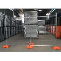 Buy cheap Galvanized Temporary Construction Fence , Temporary Site Security Fencing 1100mm from wholesalers