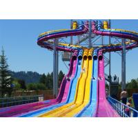 Best Fiberglass Swimming Pool Water Slides , Playground Water Slides For Kids wholesale