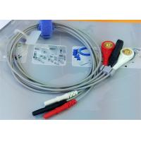 Best Din 3 leads ECG Leadwires medical equipment Accessories , Holter ECG Cable wholesale