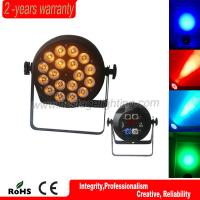 Best wholesale 32bit dimming dmx control pro stage 18*10w rgbwa 5 in 1 LED flat par light wholesale
