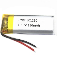 Best Custom made PL501230 130mAh 3.7 V Lithium Ion Polymer Battery for sale wholesale