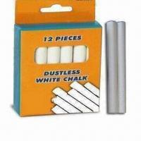 Best Dustless White Chalk, Suitable for Teaching and Marking, Conformed to ASTM/F963/EN71-3 Standards wholesale