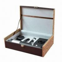 Cheap Deluxe Wine Gift Set with Wine Opener, Stoppe and Foil Cutter, RoHS Mark for sale