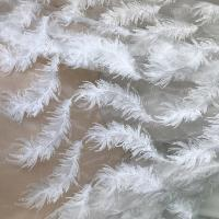 Best White Stretch Embroidered Mesh Lace Fabric By The Yard For Wedding Dress / Evening Dress wholesale