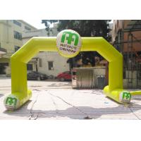 Best Yellow Color Custom Inflatable Arch Rental Flame Retardant For Sport wholesale