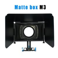 Cheap Matte box for 15MM rail rod support follow focus 550D 60D 600D 5D2 dslr camera for sale
