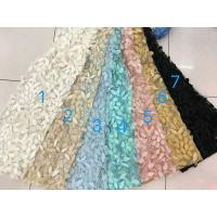 Best 3D Flower Multi Colored Lace Fabric For Show / Embroidered Sequin Lace Fabric wholesale