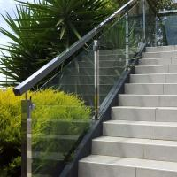 Best Low Price Stainless Steel Hardware Good Quality Square Pipe Side Mounted Modern Design Glass Railing wholesale