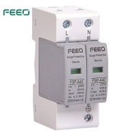 Best CE OEM 2 Pole 20KA Arrester Ac Voltage Protector Indicated With Lighting wholesale
