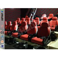 Best Red Hydraulic Mobile Theater Chair For 7D Movie Theater 1 Year Guaranty wholesale