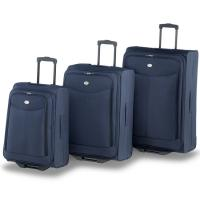 details of blue trolley luggage bags aluminium trolley. Black Bedroom Furniture Sets. Home Design Ideas