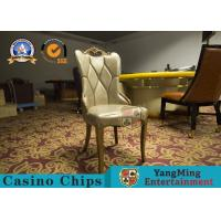 China Restaurant / Living Room Simple PU Leather Casino Gaming Chairs With Solid Wood Frame Korean  Hotel on sale