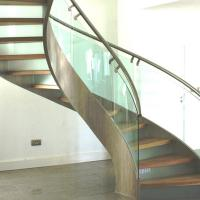 Cheap Modern Design Stainless Steel Curved Stair / Circular Staircases for sale