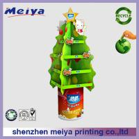Cheap Christmas Tree Rotating Round Advertising Display Stands / Shelves For Cosmetic for sale