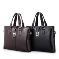 Best PU Casual Business Brown Leather Laptop Bag , Travel Messenger Women'S Work Bags Briefcases wholesale
