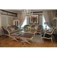 Best French-type Furniture made by Wooden Carving Frame with Upholstery Sofa Set wholesale
