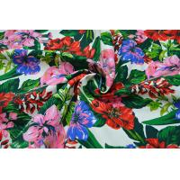 Cheap Natural Cotton Fabric / 16OZ Cotton Canvas With Nice Flower Printing for sale