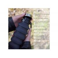 Best Collapsible Water Bottle Foldable Reusable Food-Grade Silicone FDA Approved wholesale