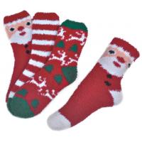 Best Polyester plush therapy foot spa socks Christmas theme Winter wholesale