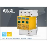 Best 3 Pole Yellow Surge Protector Device , 1P , 2P , 3P , 4P lightning surge protector wholesale