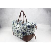 Best Canvas & Leather Ladies Canvas Travel Bag Recyclable OEM / ODM Available wholesale