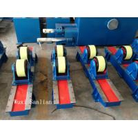 Quality Wired Bolt Adjustment Pipe Welding Turning Rolls , 10000kg Tank Rotator 50HZ 3PH wholesale