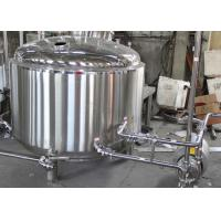 Best 500L Custom Steam Commercial Beer Brewing Equipment With Mash Lauter Tun wholesale