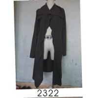 China Black Wool / Acylic Womens Knitted Long Cardigan With Nice Design For Autumn on sale