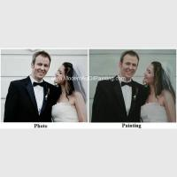 Best Canvas Custom Oil Painting Portraits From Photographs Hand Painted Wedding Portraits wholesale