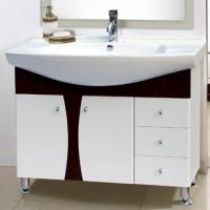 Cheap sanitary ware bamboo bathroom vanity mirror cabinet basin bath shower basin for sale