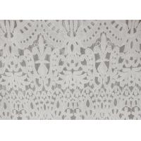 Best 120cm Wide Polyester Water Soluble Lace Fabric , Eyelet Vintage Lace Fabric wholesale