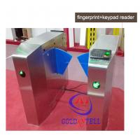 Best Passage optical Flap Barrier Gate , bi directional Bus half height turnstile sound Alarm wholesale