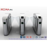 Cheap Flap Barrier Gate Flap Wing Automatic Systems Turnstiles Polishing With Anti - Reversing Passing for sale