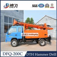 Cheap DFQ-200C truck mounted 200m DTH water well drilling rig, 200m Drilling Rig Machine for sale
