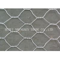 Best Green / Grey PVC Coated Gabion Wire Mesh Low Carbon Steel For Protection wholesale