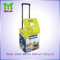 Best 4C Printing Paper Cardboard Trolley Box With Plastic Bar For Advertising wholesale